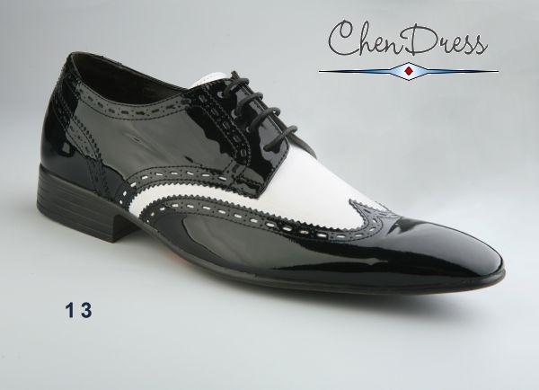 hot sale online 52d66 40b62 Lack-Schuhe aus Echtleder in schwarz weiß HA8810