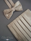 Kummerbund-Fliege-Set in creme